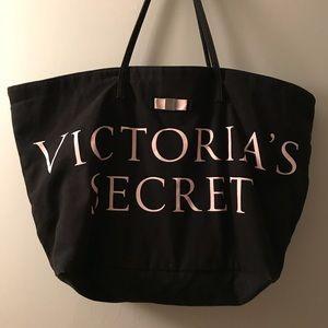 Victoria secret large black tote